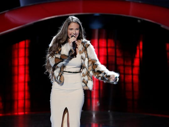 """Rebecca Brunner's rendition of """"Believer"""" by Imagine Dragons helped her survive the blind auditions on """"The Voice."""""""