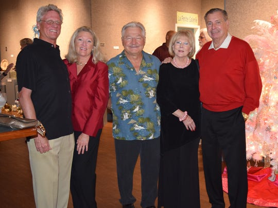 From left: Steve Josselyn, Bette McGilvray, Dr. Gerald Swiacki, Linda Turner and Festival of Trees founder Dave Rice.