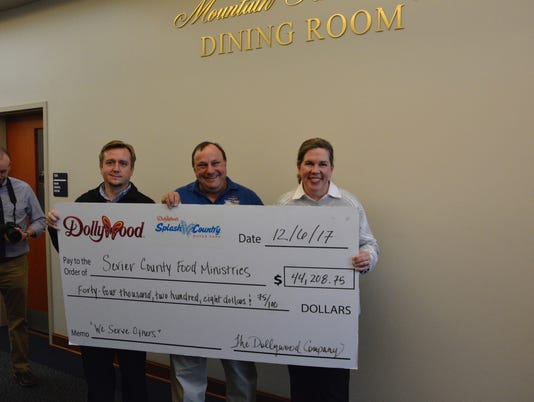 Dollywood donation