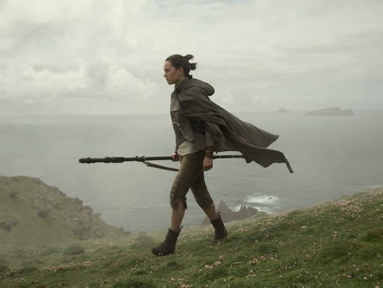 Rey (Daisy Ridley) is on a mission to convince Luke
