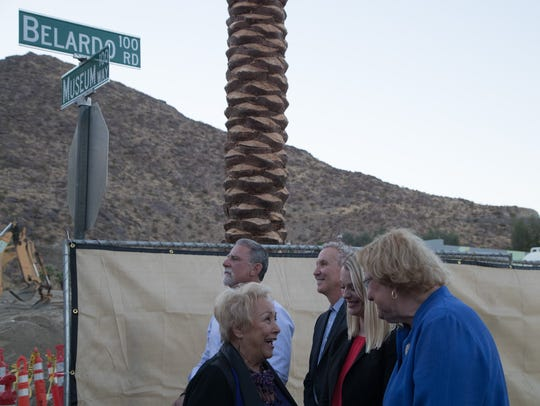 Palm Springs City Council members speak with former