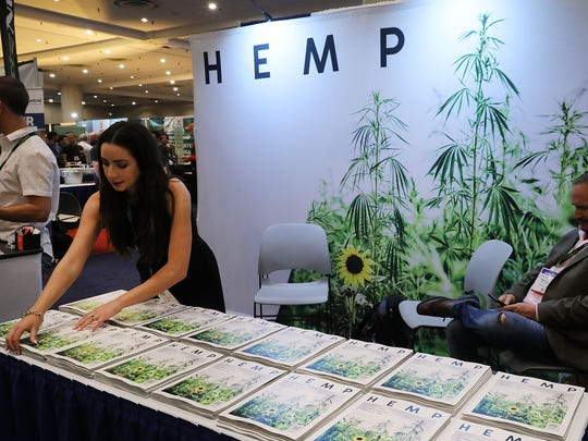 Copies of Hemp magazine are displayed at the Cannabis