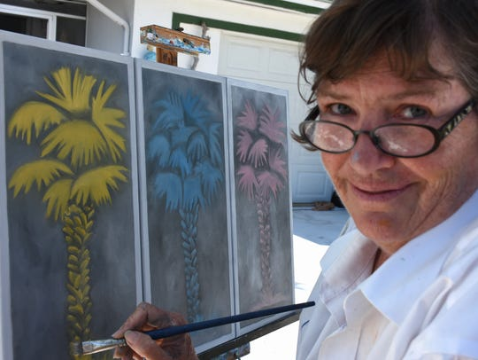 Tara O'Neill with her palm tree variations. The 2018