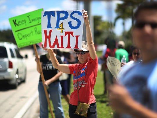 Protesta a favor del TPS.