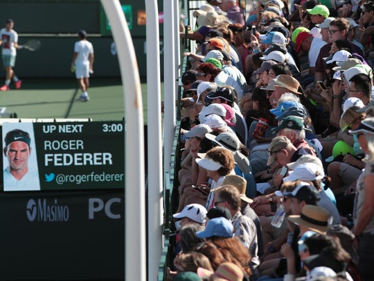 Fans pack into the stands of Practice Court 1 to watch