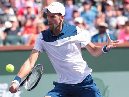 Novak Djokovic is upset by Taro Daniel at the BNP Paribas Open, Sunday, March 11, 2018.