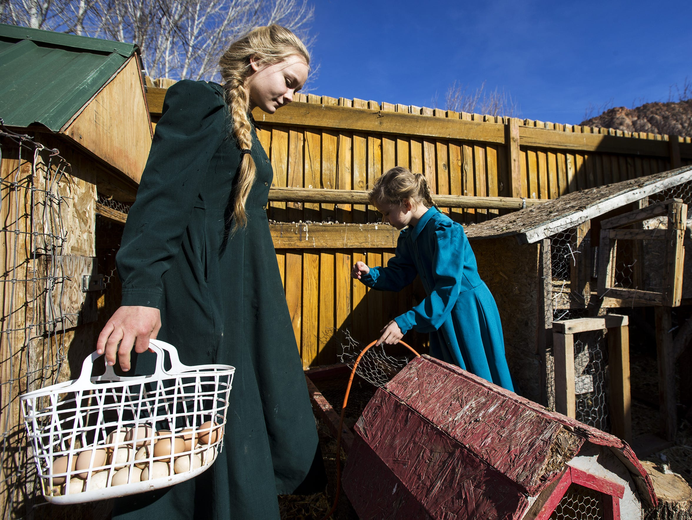 FLDS children, Selena, 17, (left) and Lydia Ann, 8,