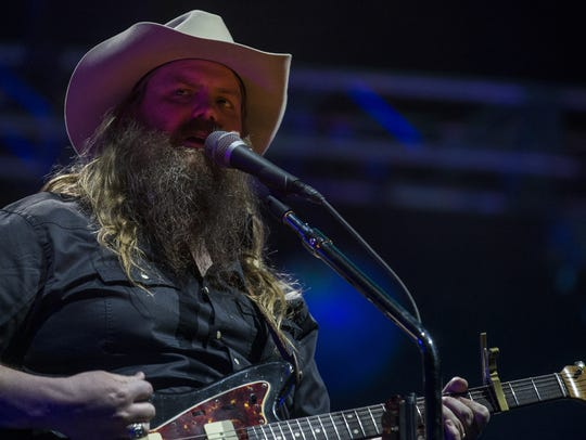 Chris Stapleton performs during the Innings Festival