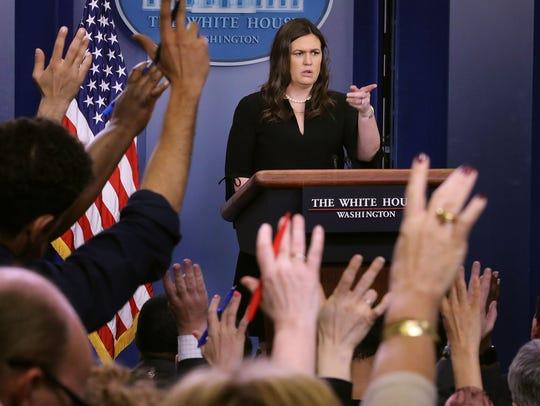 Trump quiere decidir quien entre y quien se queda fuera de las ruedas de prensa en la Casa Blanca.