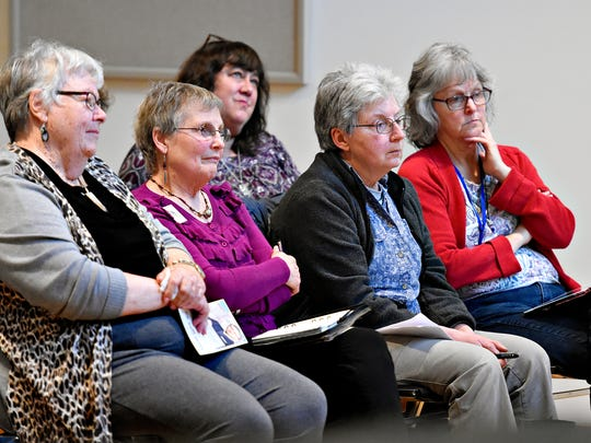 An audience looks on as Citizens' Climate Lobby hosts Meet the Candidates at Unitarian Universalist of York in York City, Wednesday, April 18, 2018. Dawn J. Sagert photo