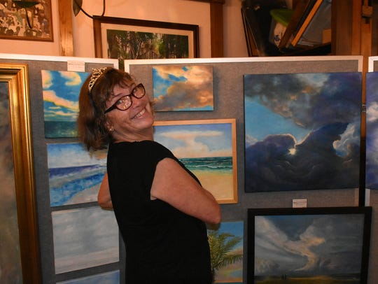 File: Artist Tara O'Neill hosted her 15th annual Art Extravaganza at the Little Bar in Goodland in 2018.