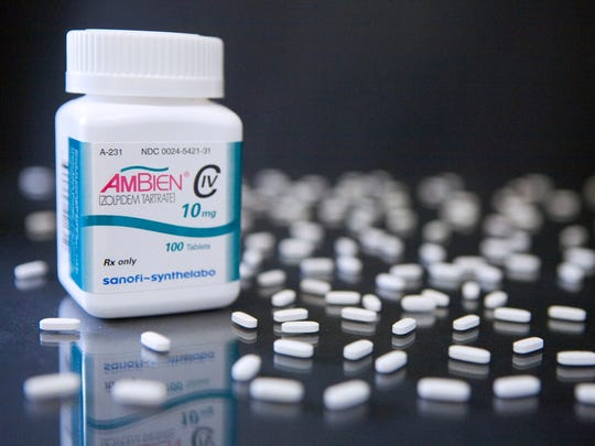 Pills of Sanofi-Aventis SA's Ambien, a top-selling insomnia drug in the U.S., are arranged in a Cambridge, Massachusetts pharmacy in this file photo.