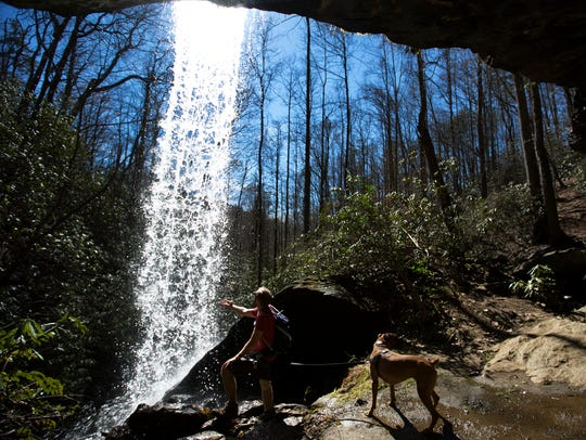 Moonshine Falls in Cleveland, South Carolina