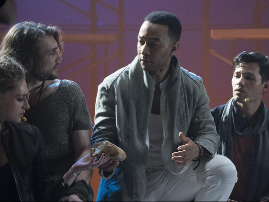 John Legend as Jesus Christ, center, from the NBC production,