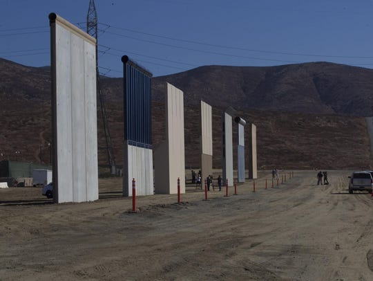 The prototype border wall sections in San Diego's Otay