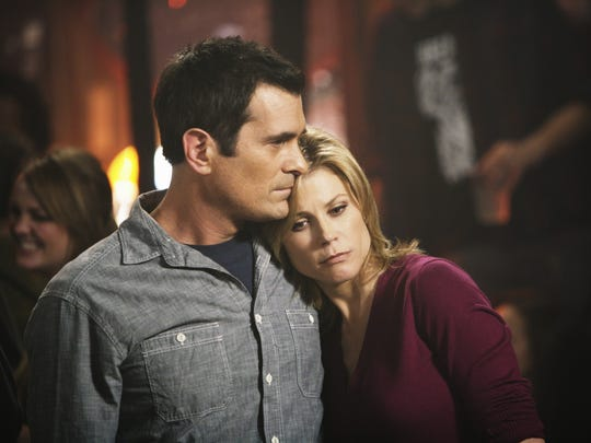 "Ty Burrell and Julie Bowen star in ""Modern Family."""