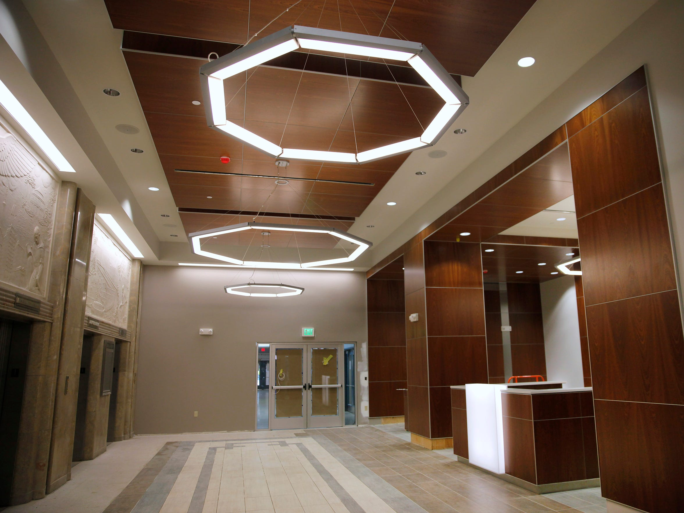 This is the new first floor lobby area of the Sibley