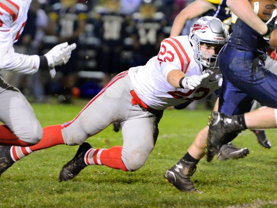 Bellevue's Bryce Ray played varsity football as a freshman.