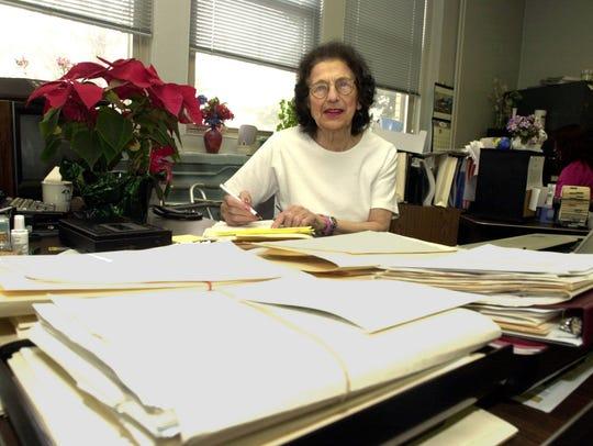 Virginia Menschner, Suffern village clerk since 1963,