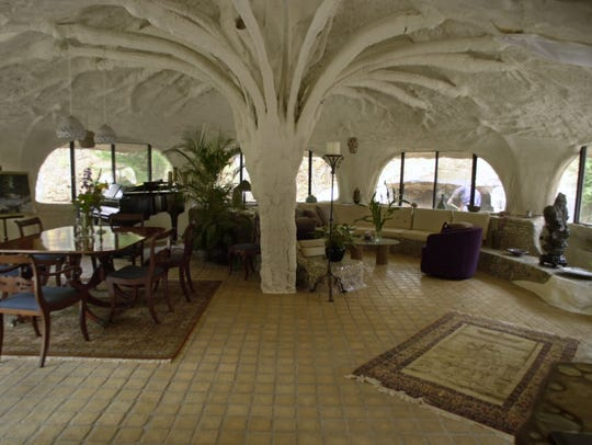 Interior of the Mushroom House.