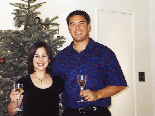 "Laci and Scott Peterson, are shown during the 2002 Christmas season. Scott Peterson was convicted of murdering Laci and their unborn son that Christmas Eve, but a a new film, ""Trial By Fury,"" casts doubt on Scott Peterson's guilt"