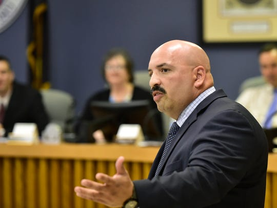 Chief Roland Camacho was sworn in by town council as