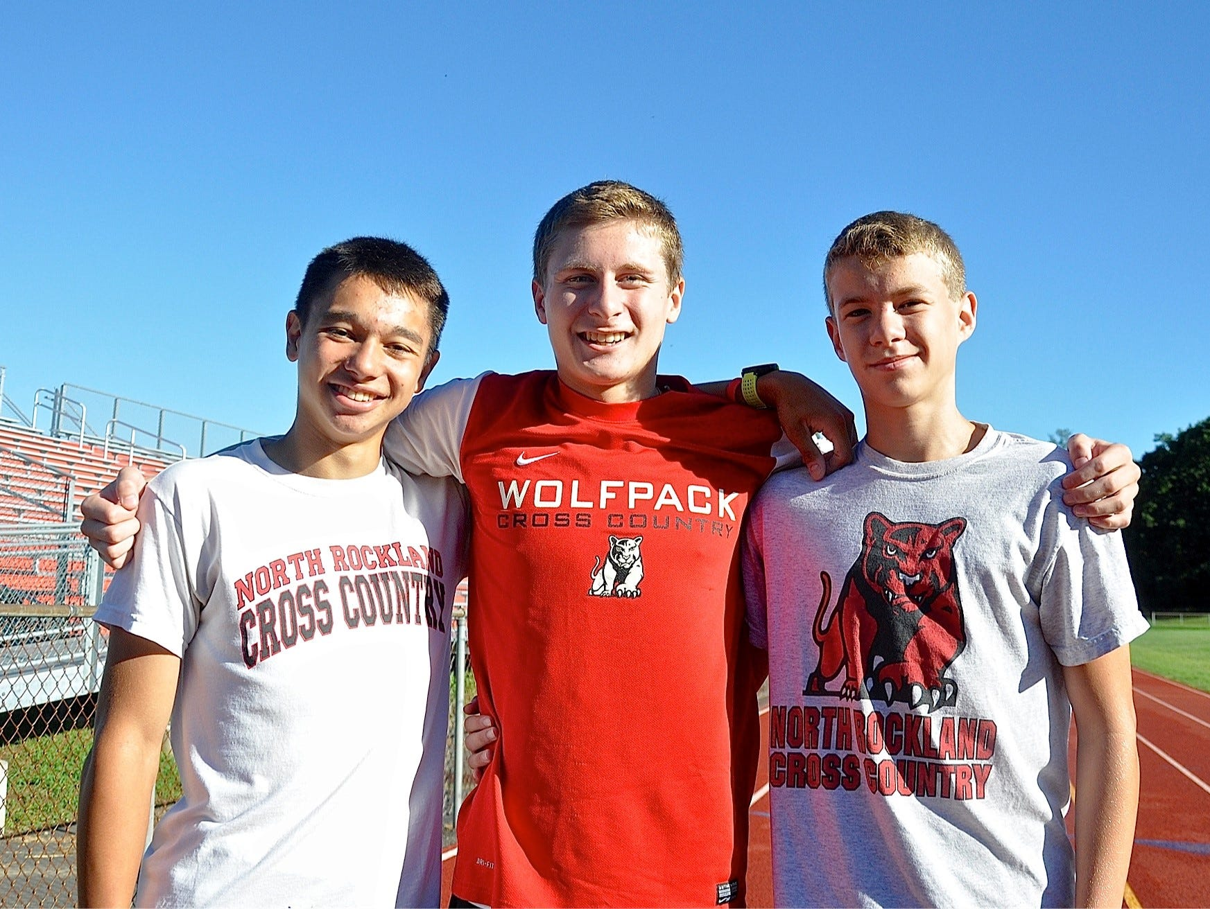North Rockland's Ryan Guzinski, Dylan Serino and Patrick Tuohy