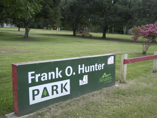 Frank O. Hunter Park sign