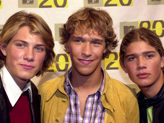 Hanson arrives for the MTV: Music Television's 20th