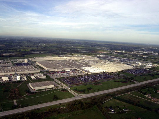 An aerial view of Toyota's 7.5 million-square-foot