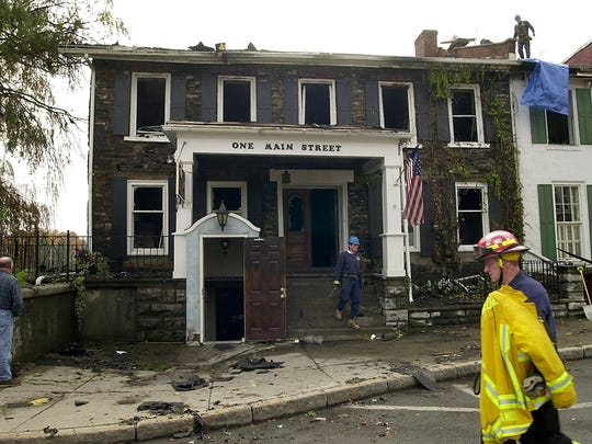 The Creekside Inn in the village of LeRoy after a fire in 2004