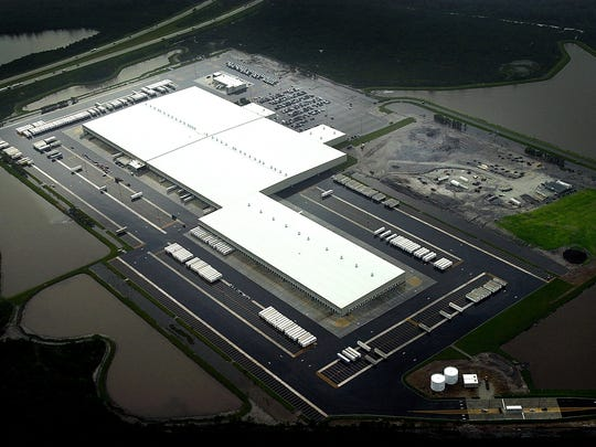 Boasting more than 1 million square feet and 1,000 employees, the Walmart distribution center in St. Lucie County (pictured)  is an example of a big box operation.The new CVS distribution center in Indian River County also represents the next generation of big box centers.