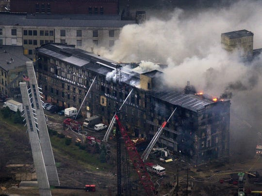 A 2001 fire caused extensive damage to a former Pfister