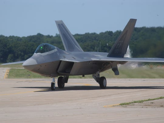 The F-22 Raptor will fly this week in the Field of Flight.
