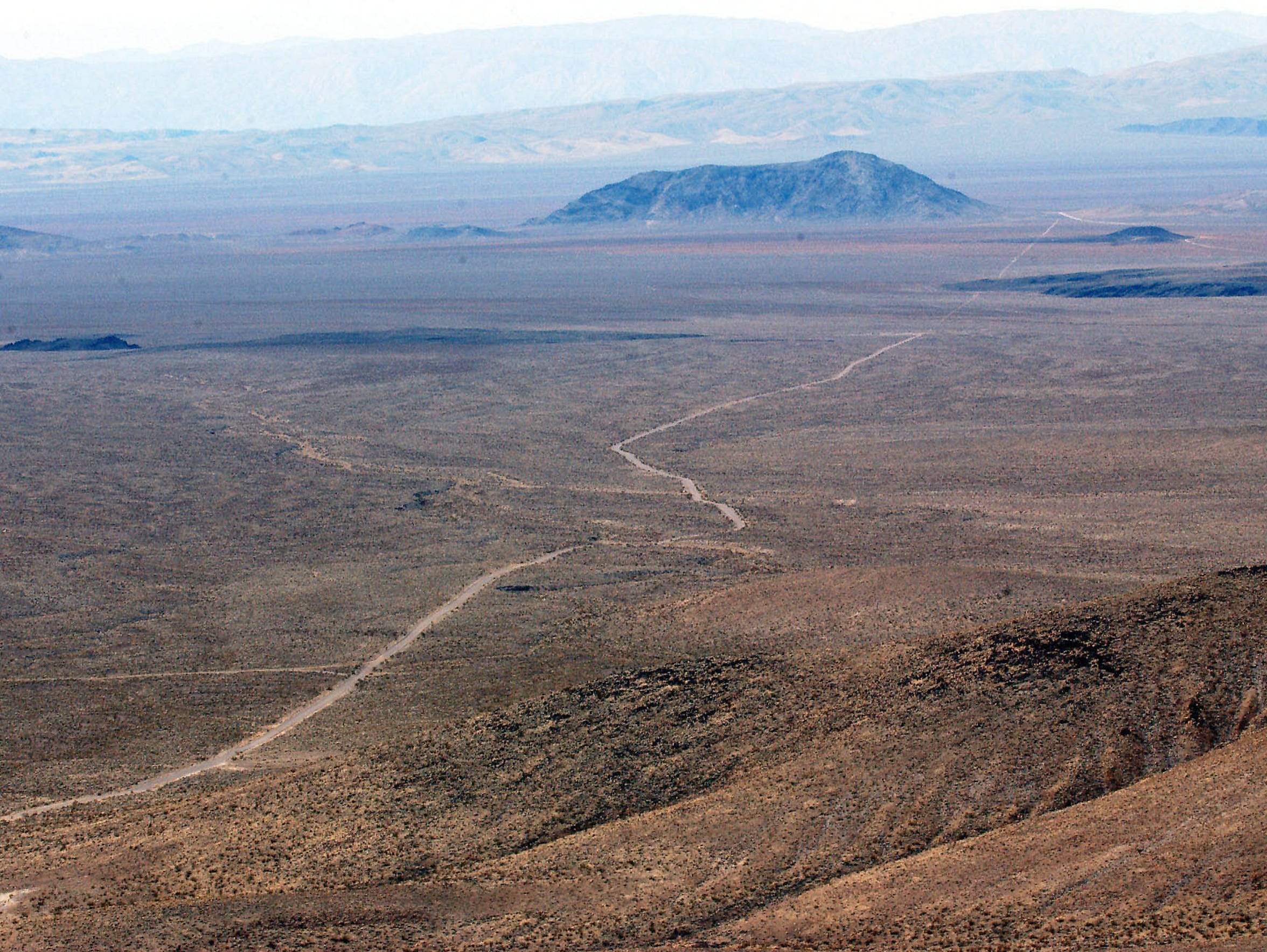 The top of Yucca Mountain, a proposed nuclear waste