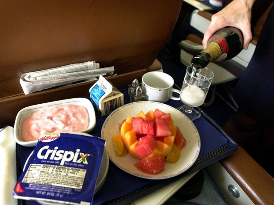 Meals with complimentary wine or champagne were served on Midwest Airlines flights throughout much of the company's history.