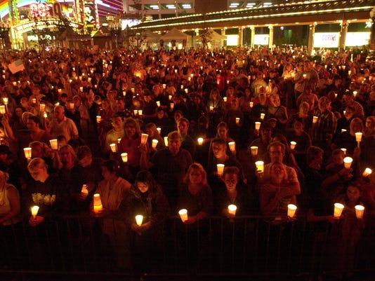 vigil crowd