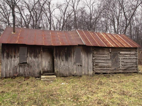 The uninhabited Mannon cabin  on Feb. 28, 2001.