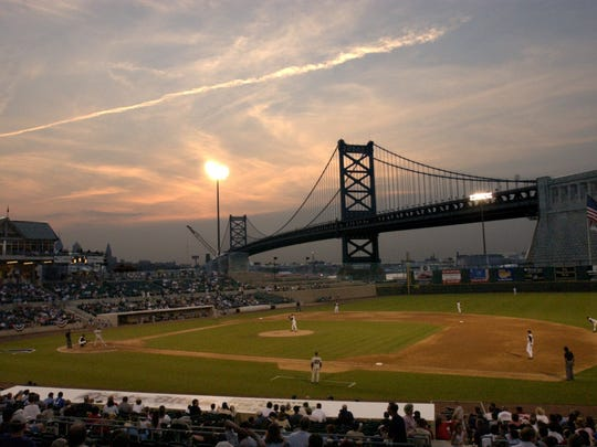 The Camden Riversharks host the Somerset Patriots in May's home opener at Campbell's Field.