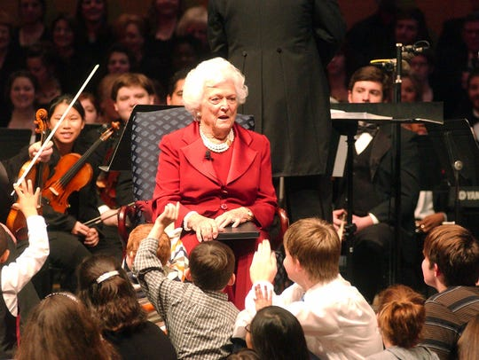 Former first lady Barbara Bush at Louisiana College