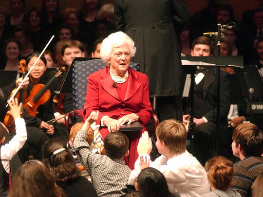 Former first lady Barbara Bush at Louisiana College in 2007.