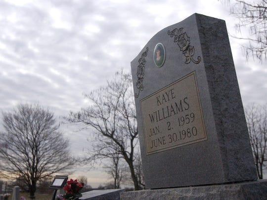 Headstone for Faye Williams