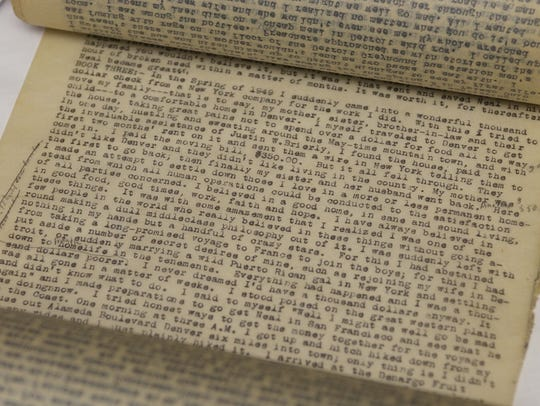 Text from Jack Kerouac's famous scroll, his first draft