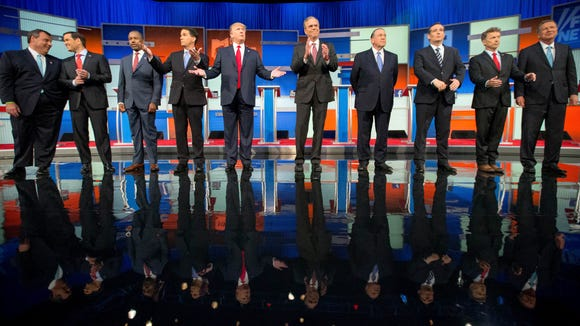 Republican candidates take the stage for the first