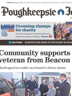 Delivery of the Poughkeepsie Journal is delayed today.