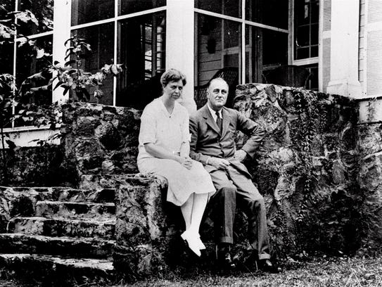 Then-Governor Franklin D. Roosevelt and his wife, Eleanor