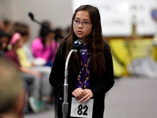 Sixth-grader Maya Zhang, representing the Patrick M.