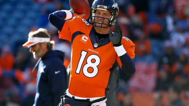 Denver Broncos quarterback Peyton Manning returned to practice after setting out last week.