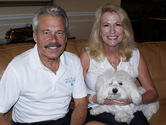 bill and karen young with dog sugar
