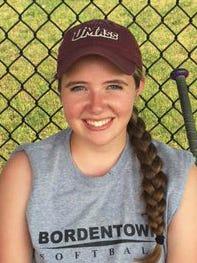 Bordentown junior pitcher Debra Jones